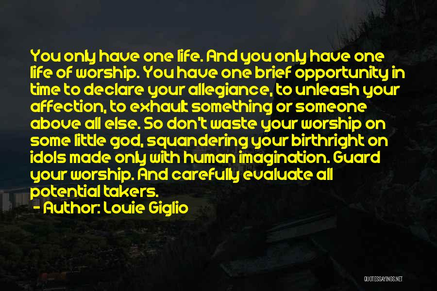 Birthright Quotes By Louie Giglio