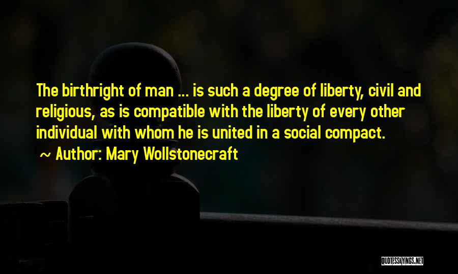 Birthright Quotes By Mary Wollstonecraft