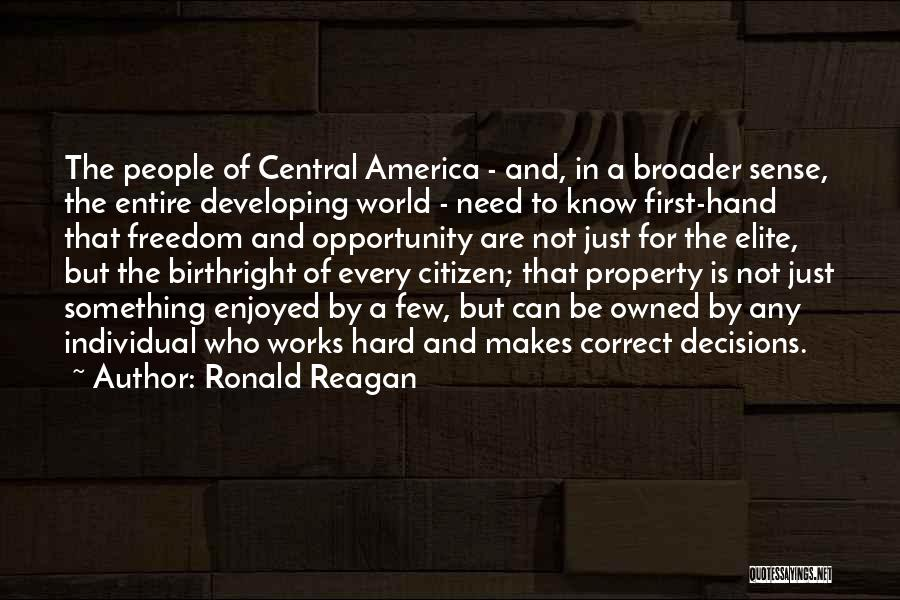 Birthright Quotes By Ronald Reagan