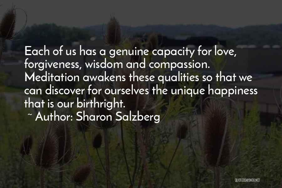 Birthright Quotes By Sharon Salzberg