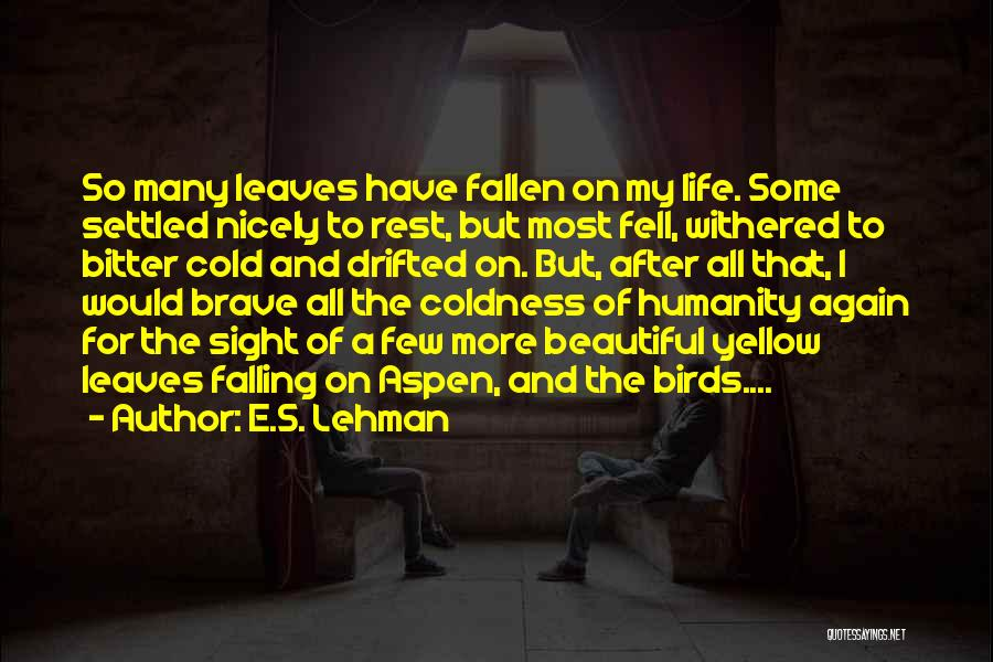 Bitter Cold Quotes By E.S. Lehman
