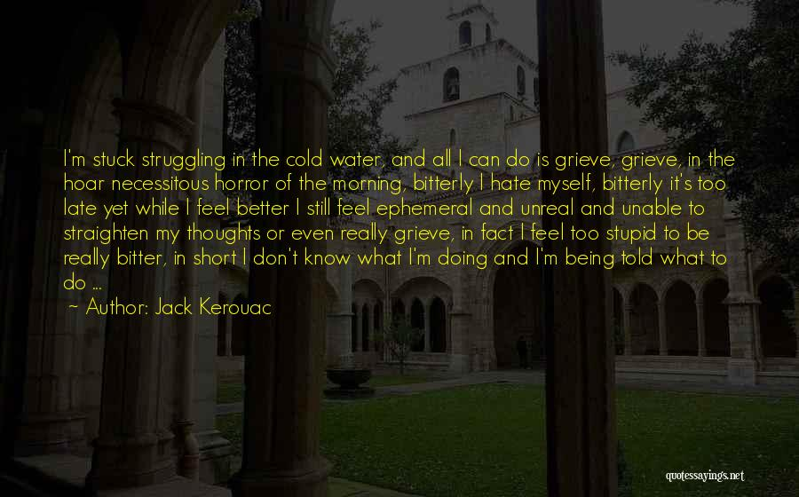 Bitter Cold Quotes By Jack Kerouac