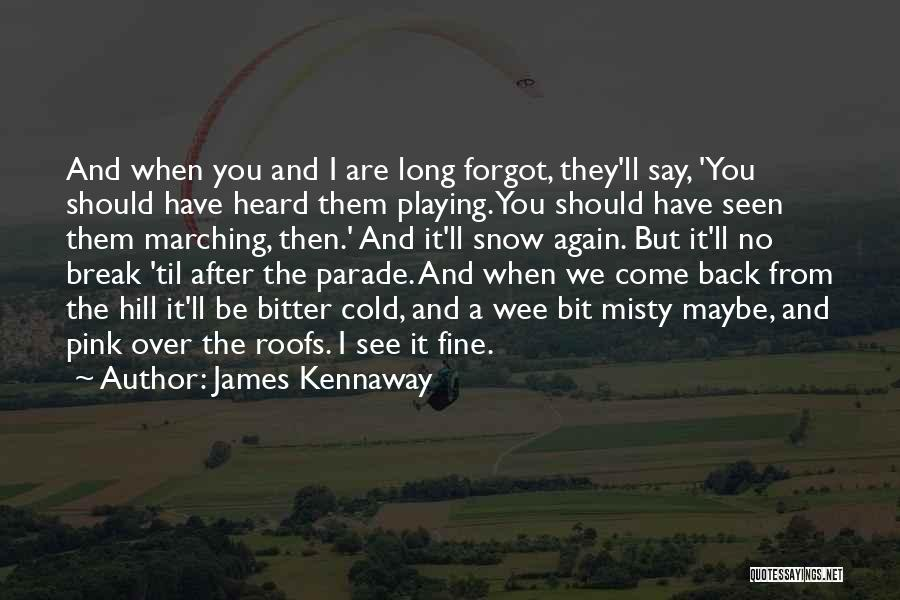 Bitter Cold Quotes By James Kennaway