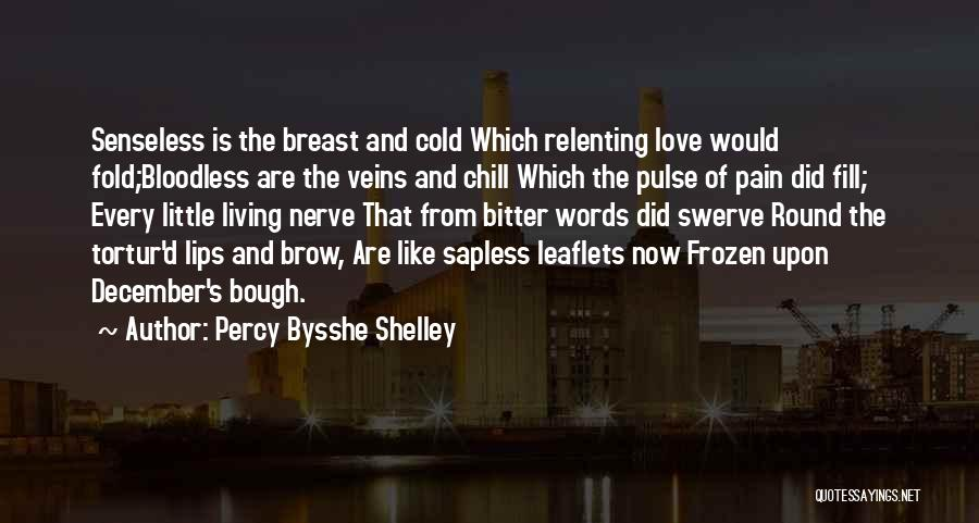 Bitter Cold Quotes By Percy Bysshe Shelley
