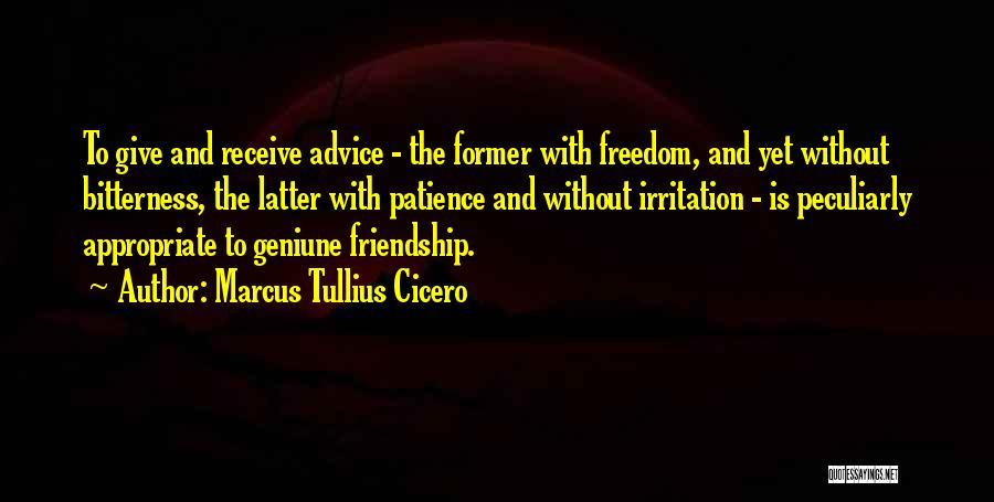 Bitterness In Friendship Quotes By Marcus Tullius Cicero