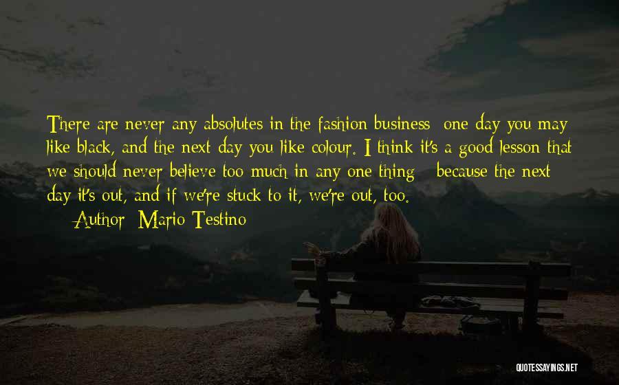 Black Colour Fashion Quotes By Mario Testino
