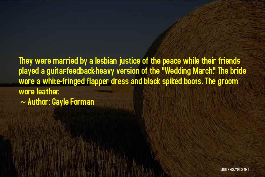 Black N White Dress Quotes By Gayle Forman