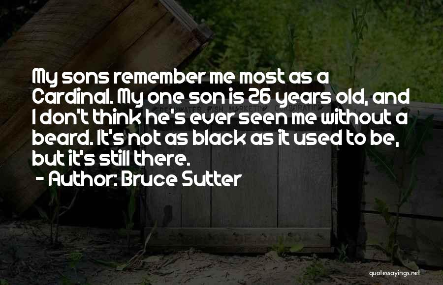 Black Son Quotes By Bruce Sutter