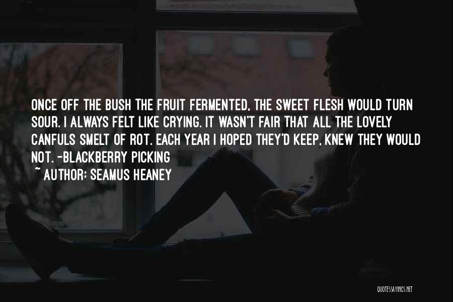 Blackberry Fruit Quotes By Seamus Heaney