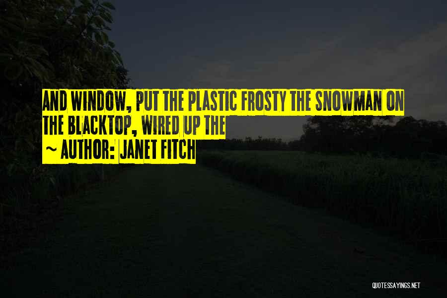 Blacktop Quotes By Janet Fitch