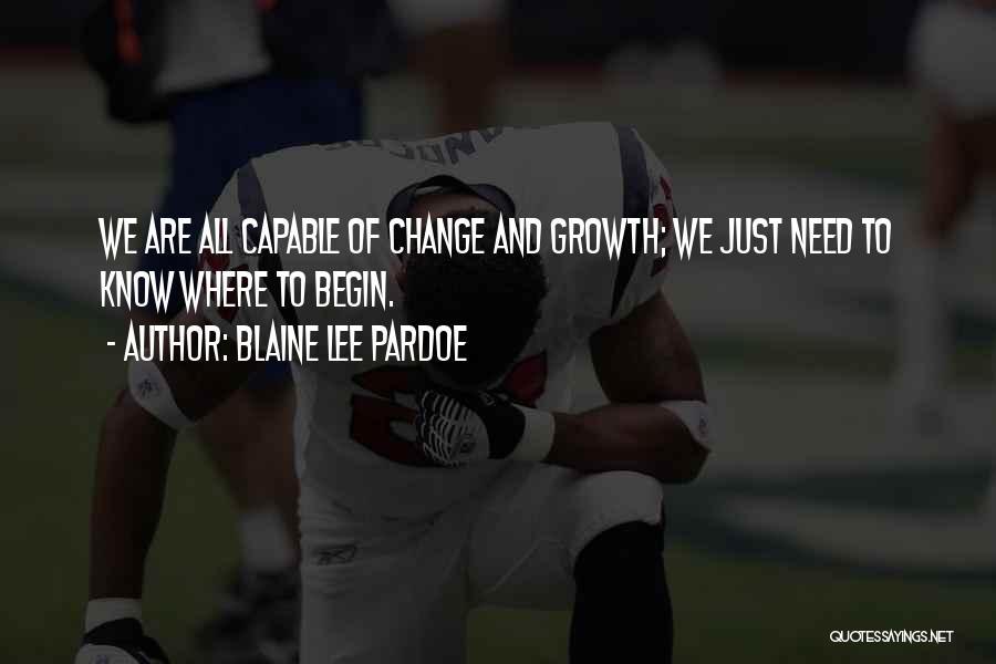 Blaine Lee Pardoe Quotes 101997