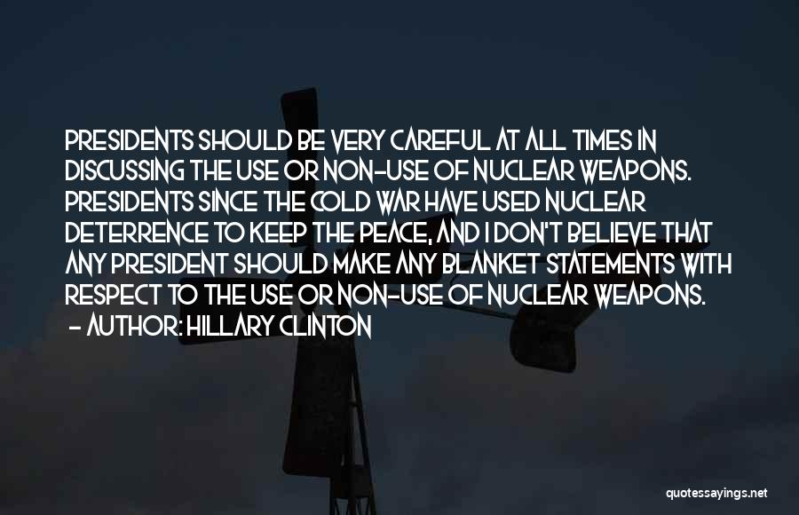 Blanket Statements Quotes By Hillary Clinton