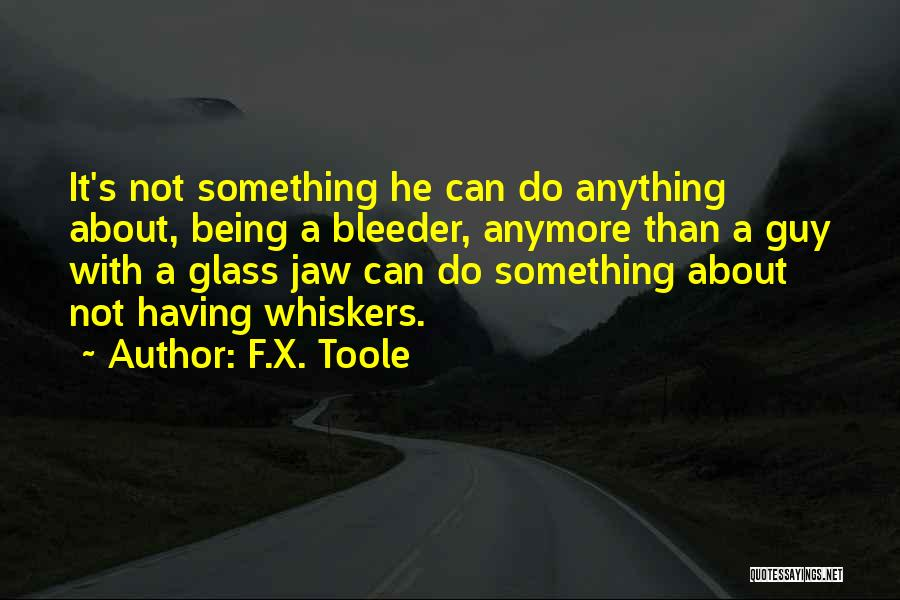 Bleeder Quotes By F.X. Toole