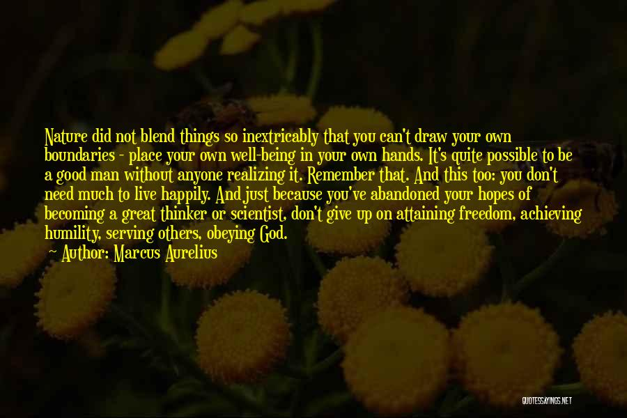 Blend With Nature Quotes By Marcus Aurelius