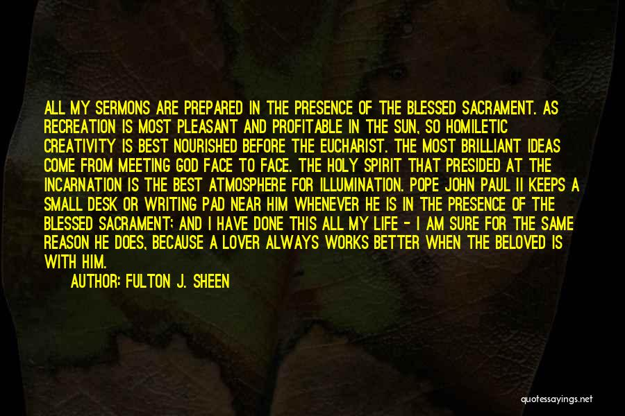 Blessed Pope John Paul Ii Quotes By Fulton J. Sheen