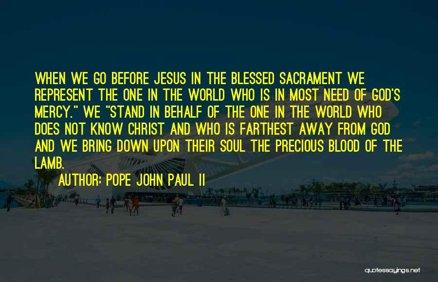 Blessed Pope John Paul Ii Quotes By Pope John Paul II