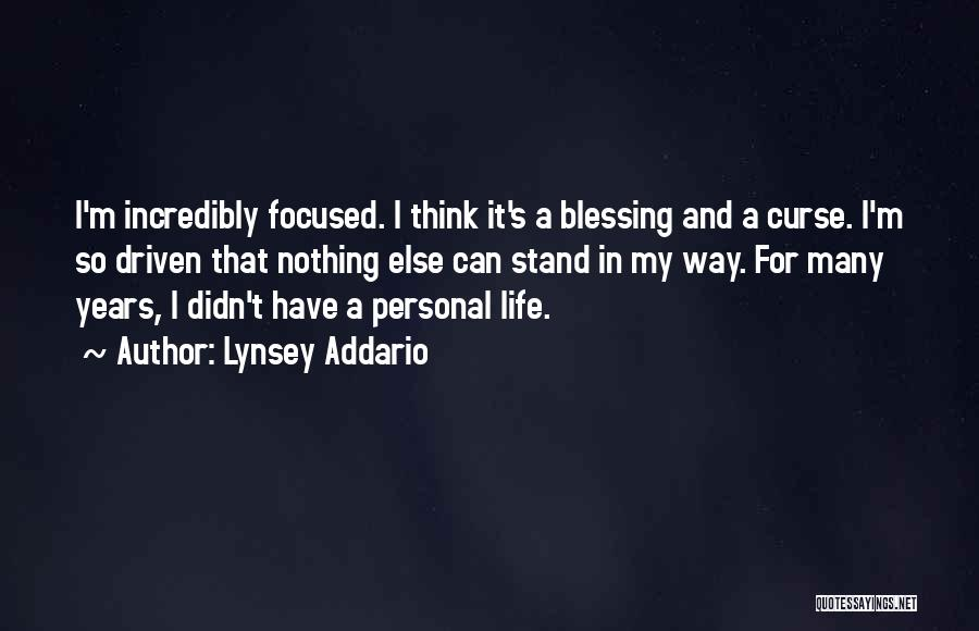 Blessing In My Life Quotes By Lynsey Addario