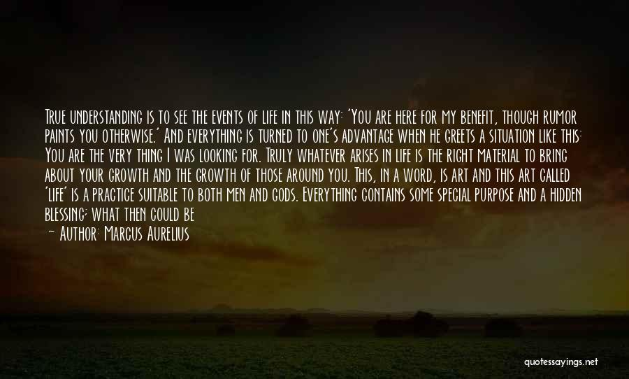 Blessing In My Life Quotes By Marcus Aurelius