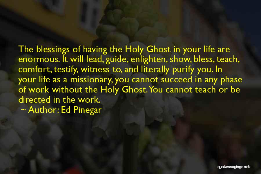 Blessings In Your Life Quotes By Ed Pinegar