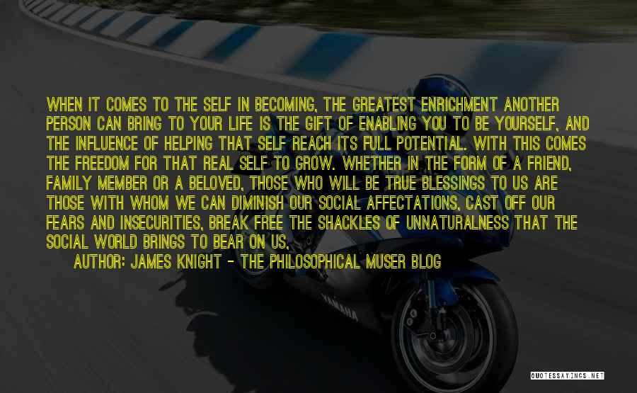 Blessings In Your Life Quotes By James Knight - The Philosophical Muser Blog