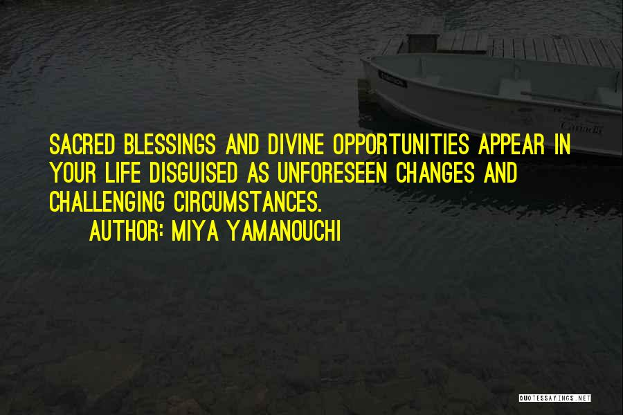 Blessings In Your Life Quotes By Miya Yamanouchi