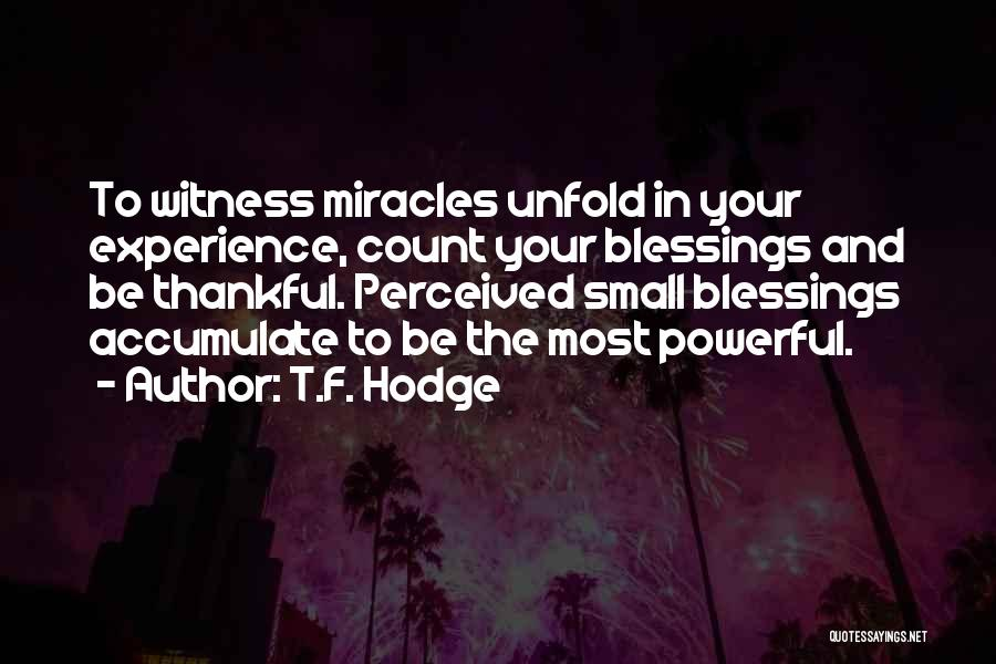 Blessings In Your Life Quotes By T.F. Hodge
