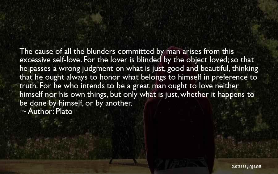 Blinded To The Truth Quotes By Plato