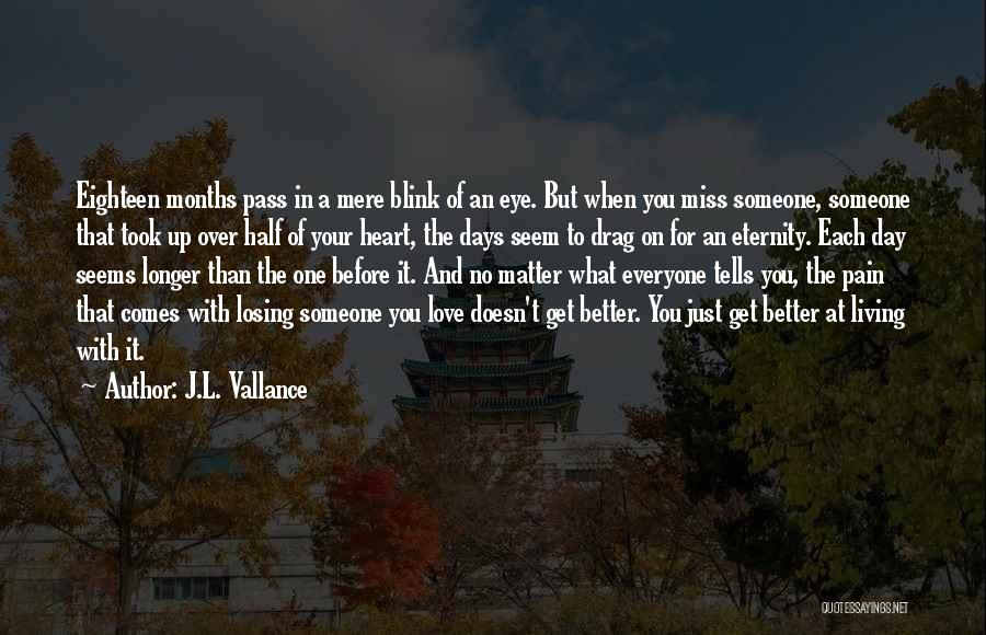 Blink Of An Eye Love Quotes By J.L. Vallance