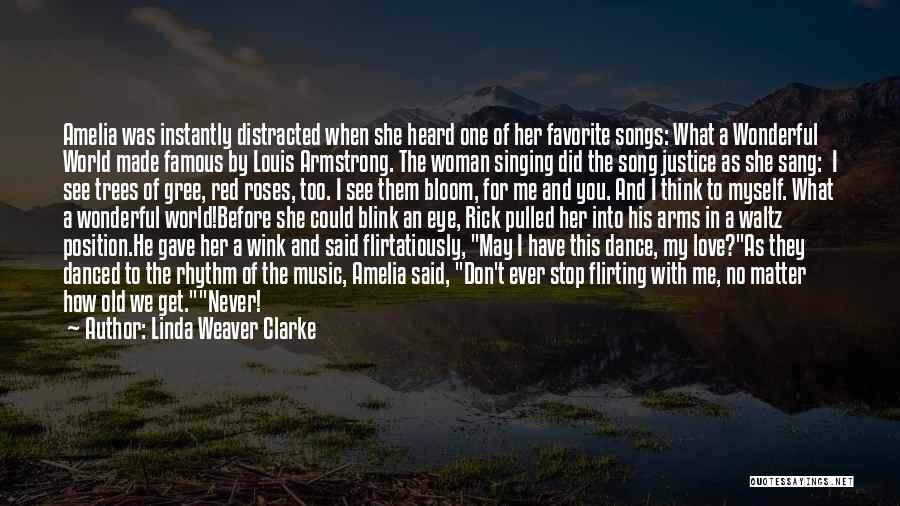 Blink Of An Eye Love Quotes By Linda Weaver Clarke