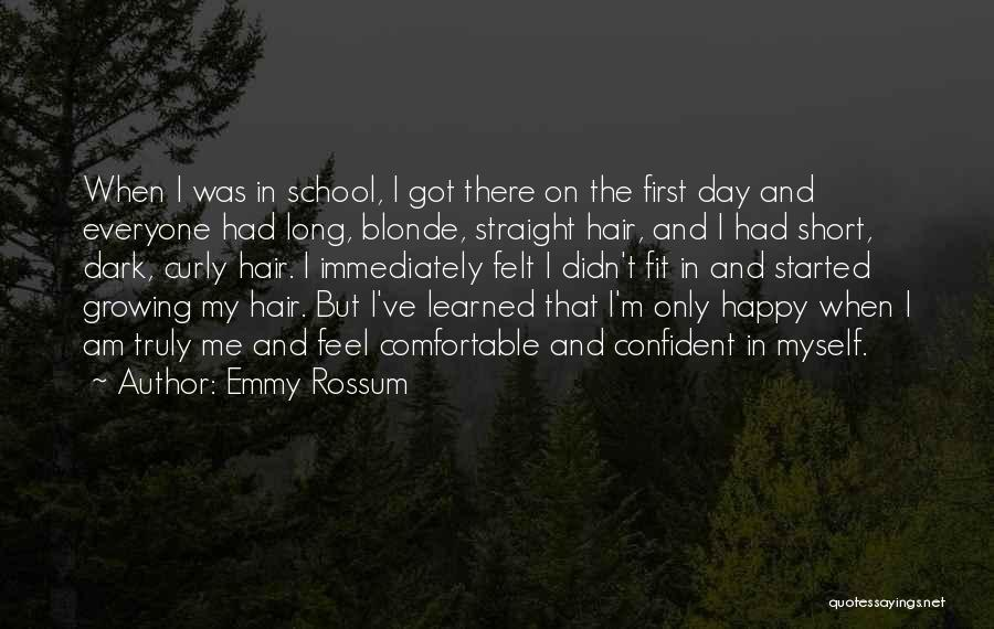 Blonde Hair Quotes By Emmy Rossum