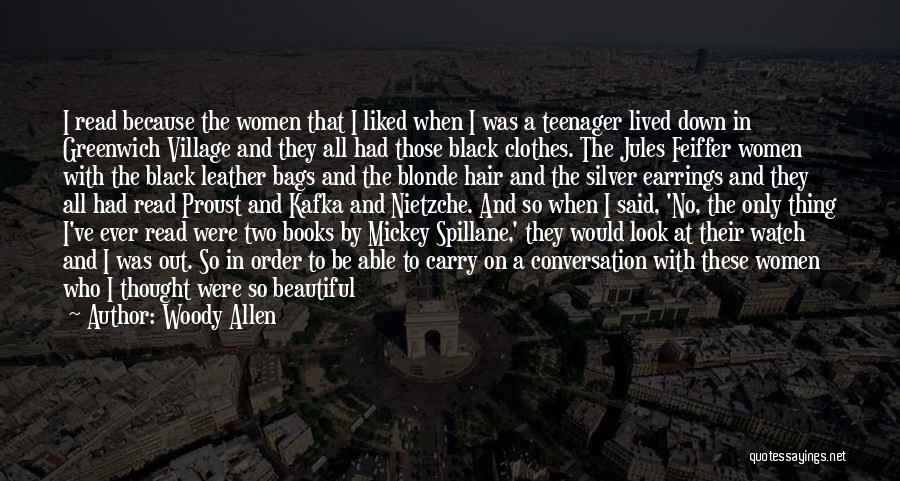 Blonde Hair Quotes By Woody Allen