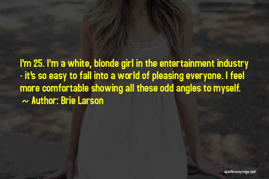 Blonde Quotes By Brie Larson
