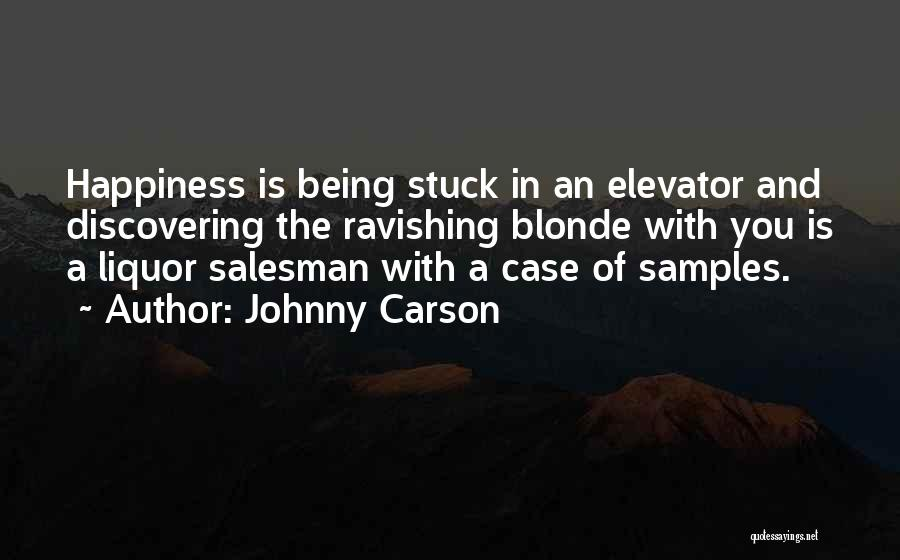 Blonde Quotes By Johnny Carson