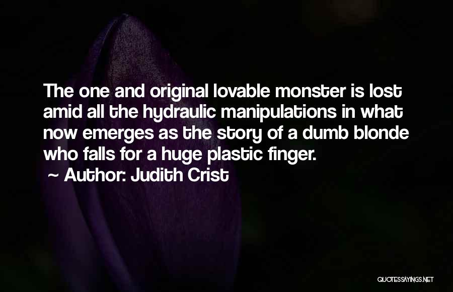 Blonde Quotes By Judith Crist