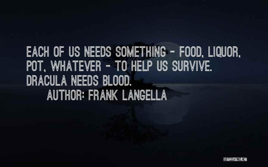 Blood In Dracula Quotes By Frank Langella