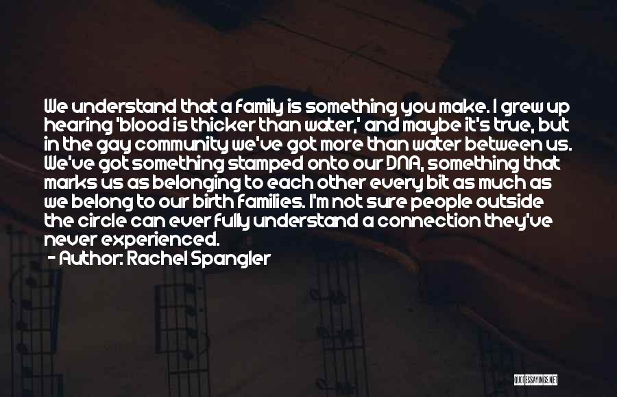Blood Is Thicker Quotes By Rachel Spangler
