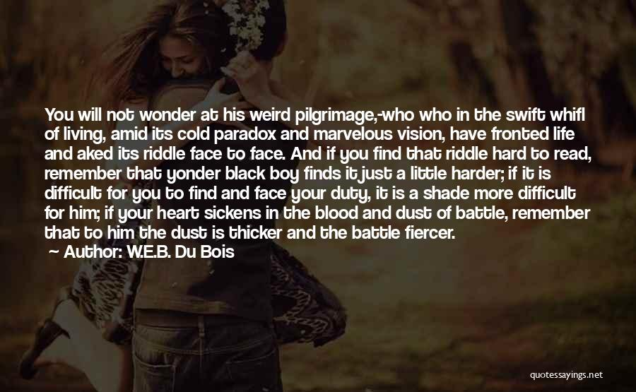 Blood Is Thicker Quotes By W.E.B. Du Bois