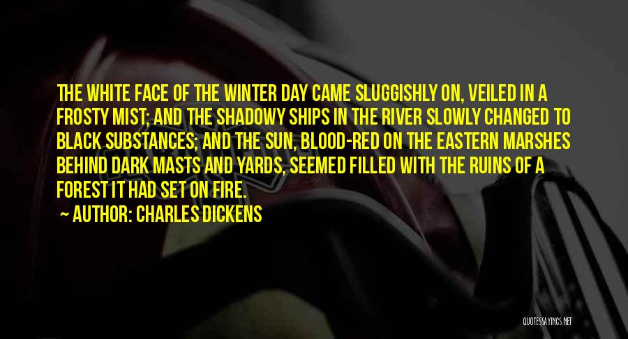 Blood Red Quotes By Charles Dickens