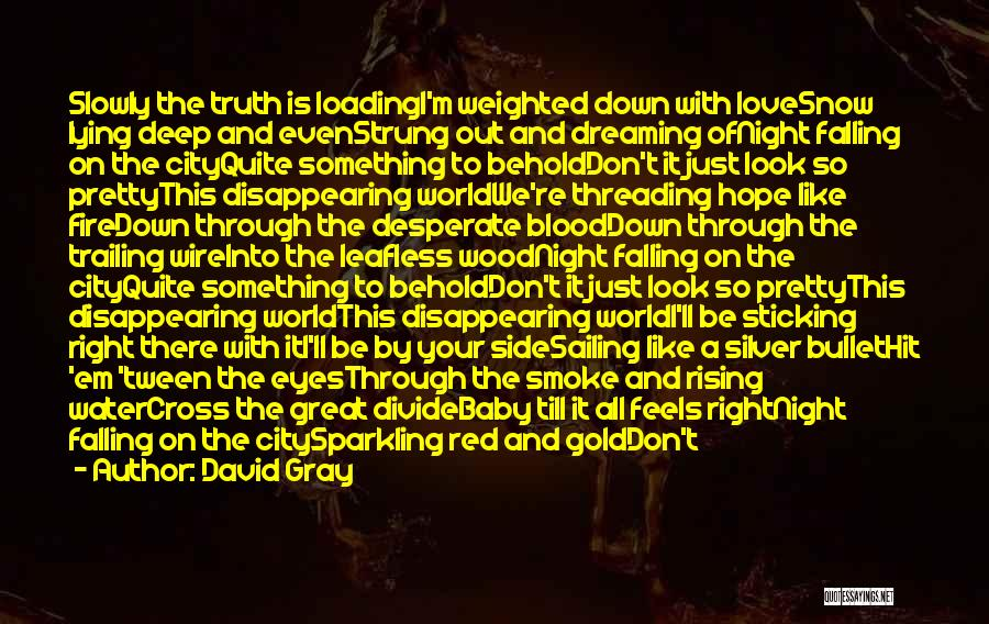 Blood Red Quotes By David Gray