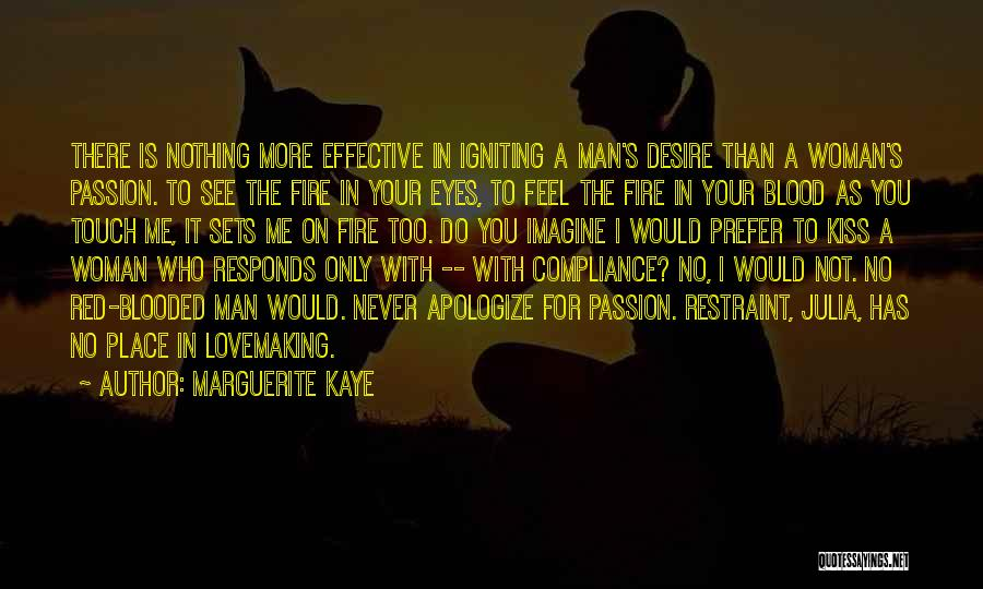 Blood Red Quotes By Marguerite Kaye