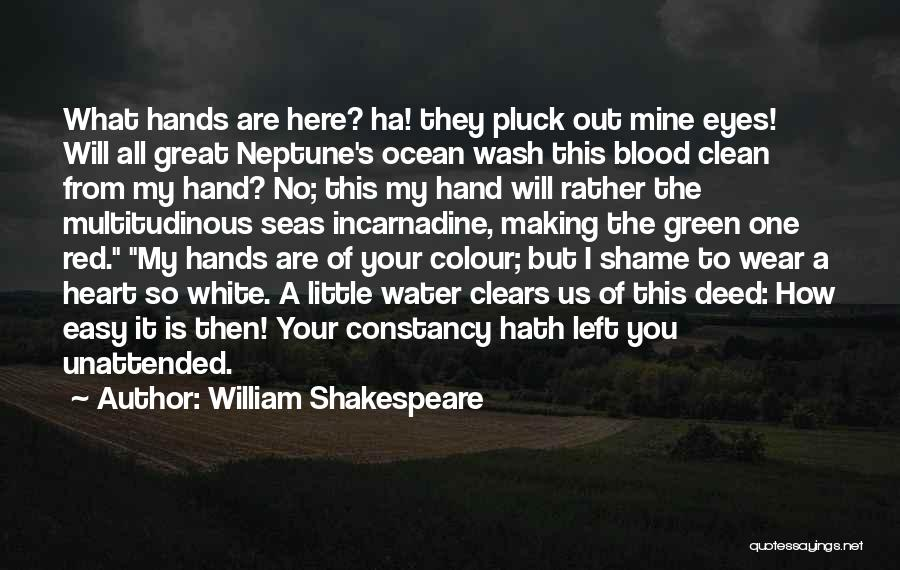 Blood Red Quotes By William Shakespeare