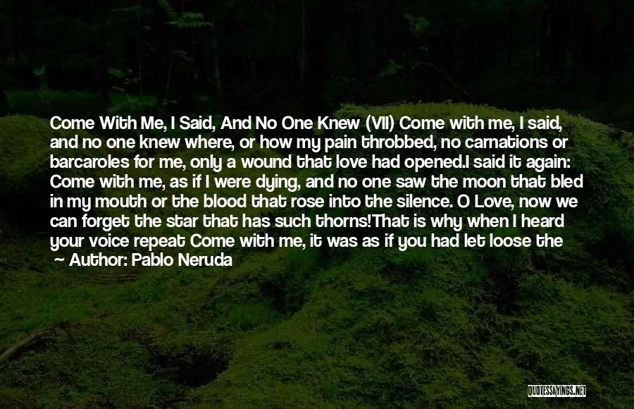 Blood Rose Quotes By Pablo Neruda