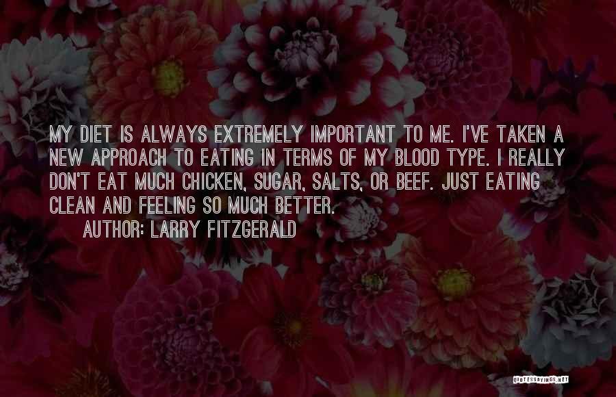 larry fitzgerald blood type diet