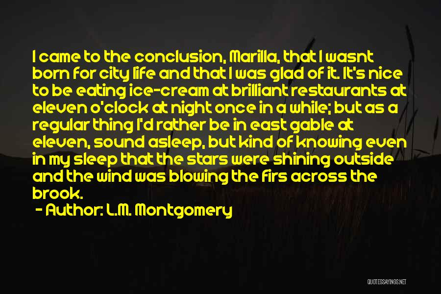 Blowing O's Quotes By L.M. Montgomery