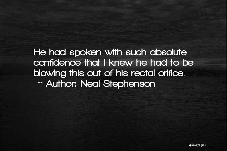 Blowing O's Quotes By Neal Stephenson