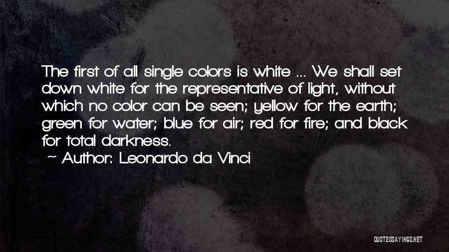 Blue Fire Quotes By Leonardo Da Vinci