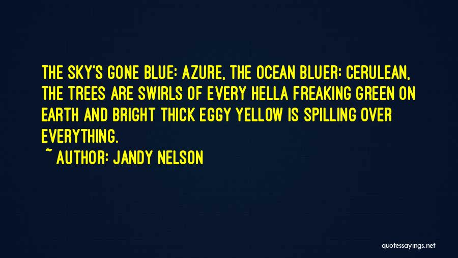 Blue Sky And Ocean Quotes By Jandy Nelson