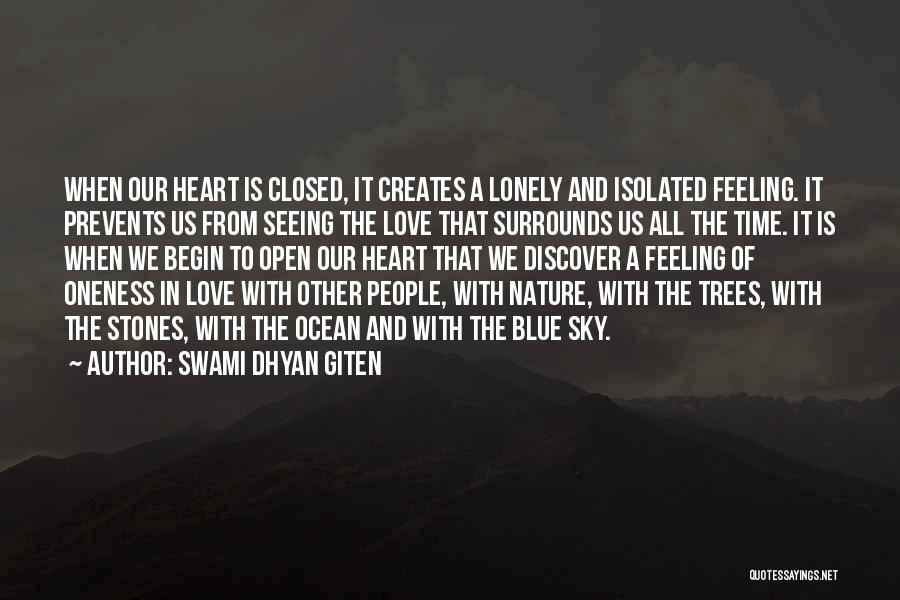Blue Sky And Ocean Quotes By Swami Dhyan Giten