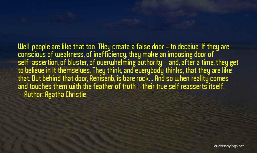 Bluster Quotes By Agatha Christie