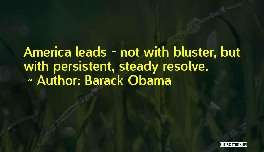 Bluster Quotes By Barack Obama